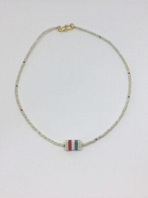 Halskæde med rørvedhæng i italienske farver