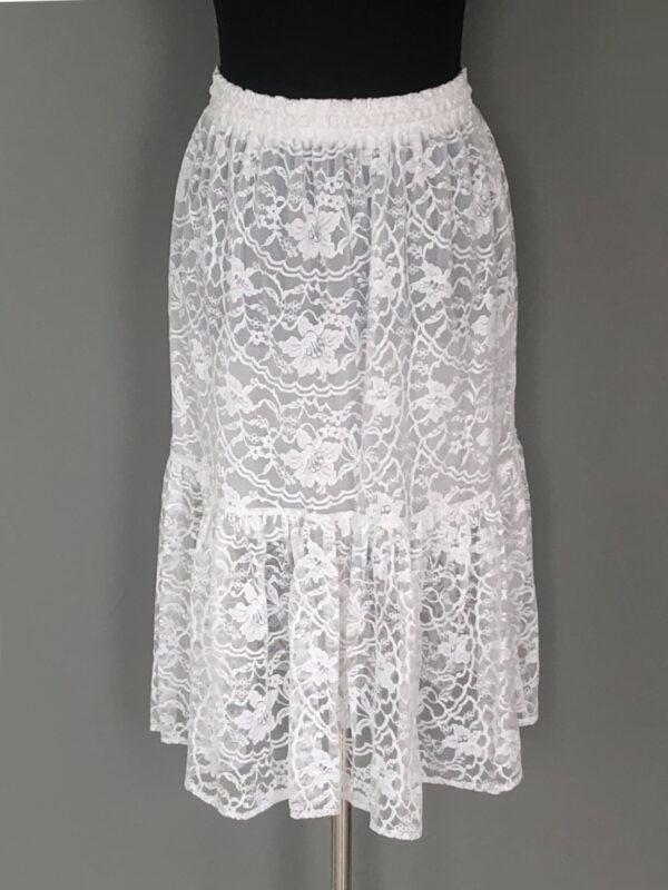 Gypsy skirt i hvid blonde - bag