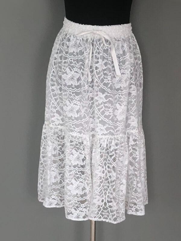 Gypsy skirt i hvid blonde - for