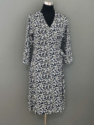 Jersey slå-om-kjole i leopardmønster - for