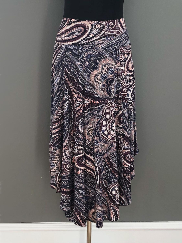 Asymetrisk nederdel i paisleymønster - bag