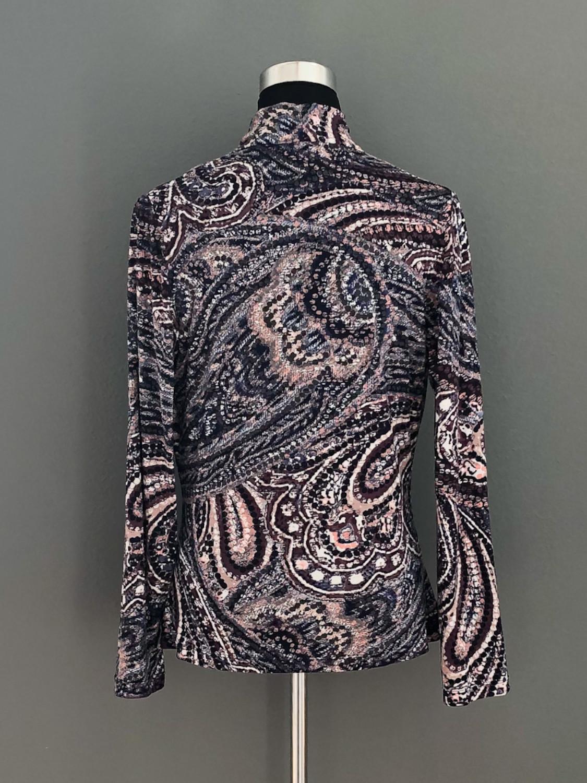 Bluse med vandfald i paisleymønster - bag