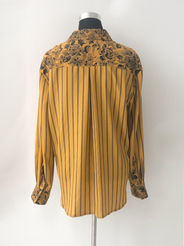 Sennepsgul skjorte med striber - bag