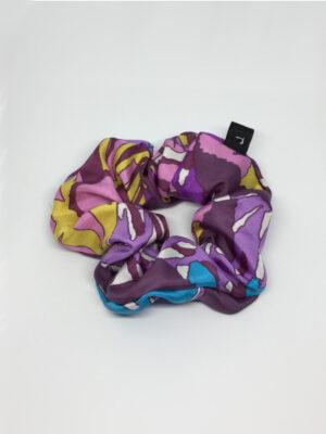 Silke scrunchie i frække farver