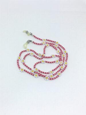 Daisy brillesnor i rød og rosa