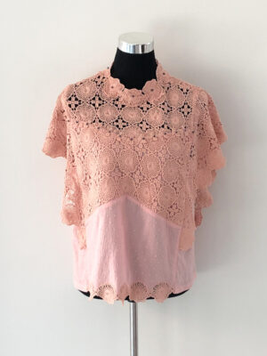 Upcycled top i rosa blonde - for