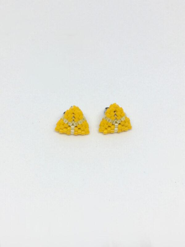 Gule trekantede ørestick - mini