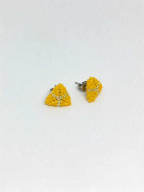 Gule trekantede ørestick - mini - side