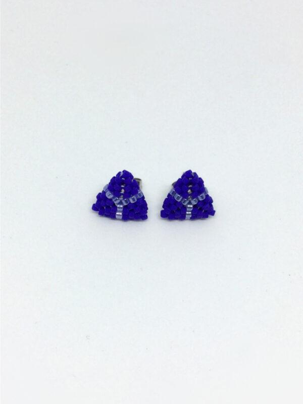Koboltblå trekantet ørestick - mini